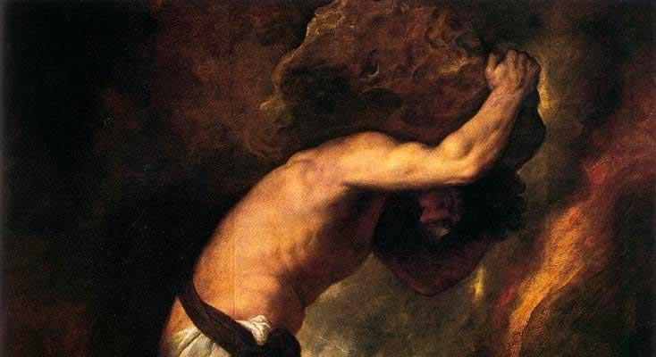نقاشی سیزیف توسط تیسین