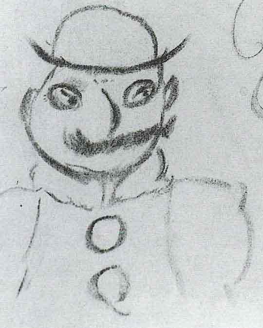 نقاشی جیمز جویس و تصوری که از بلوم شخصیت اصلی کتاب اولیس داشته