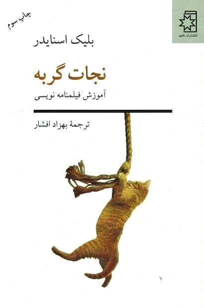 روی جلد نجات گربه (آموزش فیلمنامه نویسی)